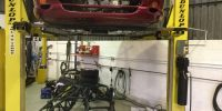 TVR Chimaera 450 restoration on ramp high